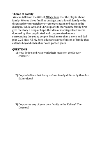 all my sons study guide pdf
