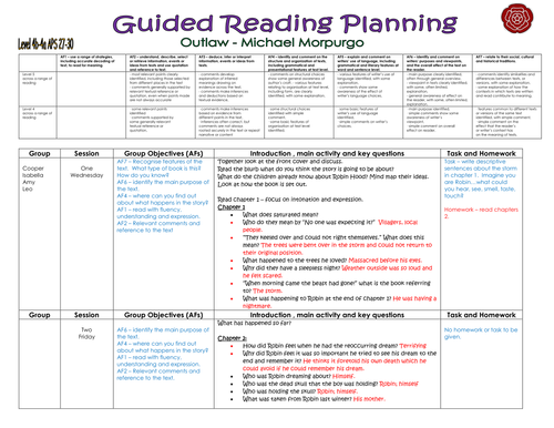 year 3 guided reading planning