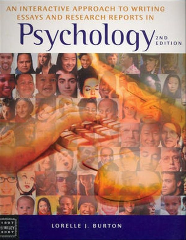 interactive guide to writing essays and research reports in psychology