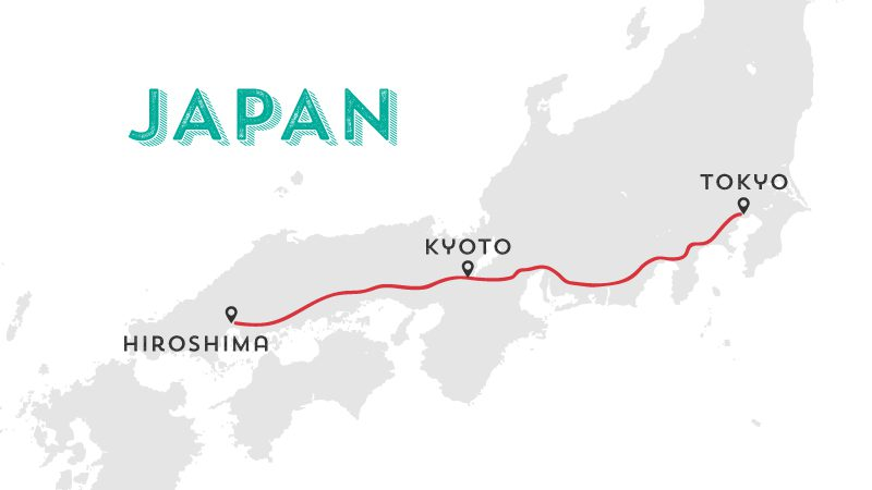 7 day guided tour japan