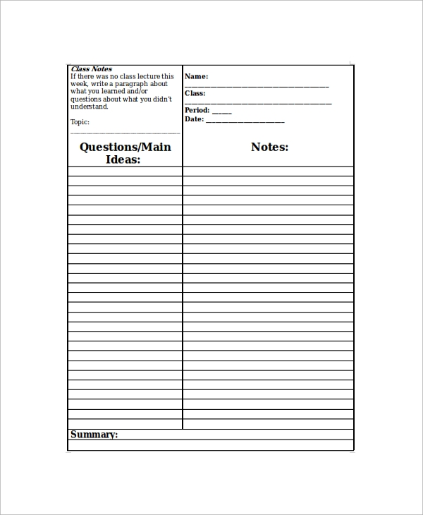 study guide template microsoft word