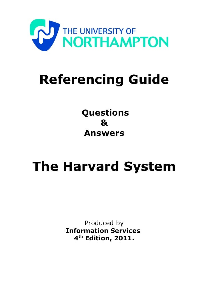 a guide to harvard referencing