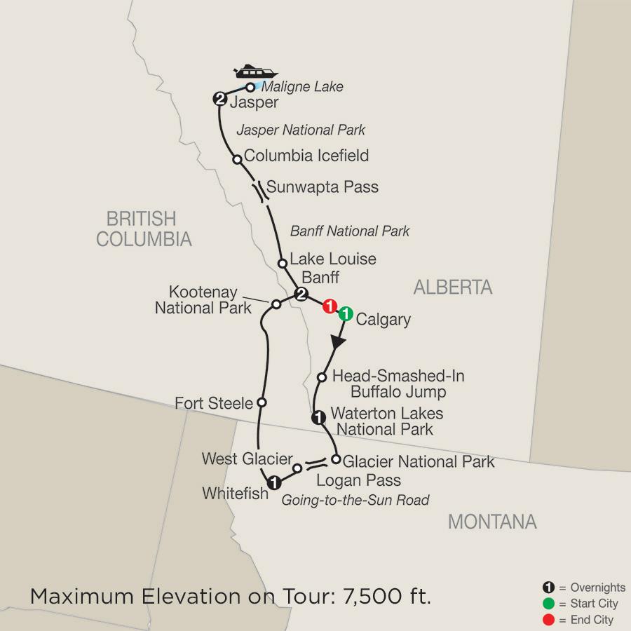 glacier national park guided tours