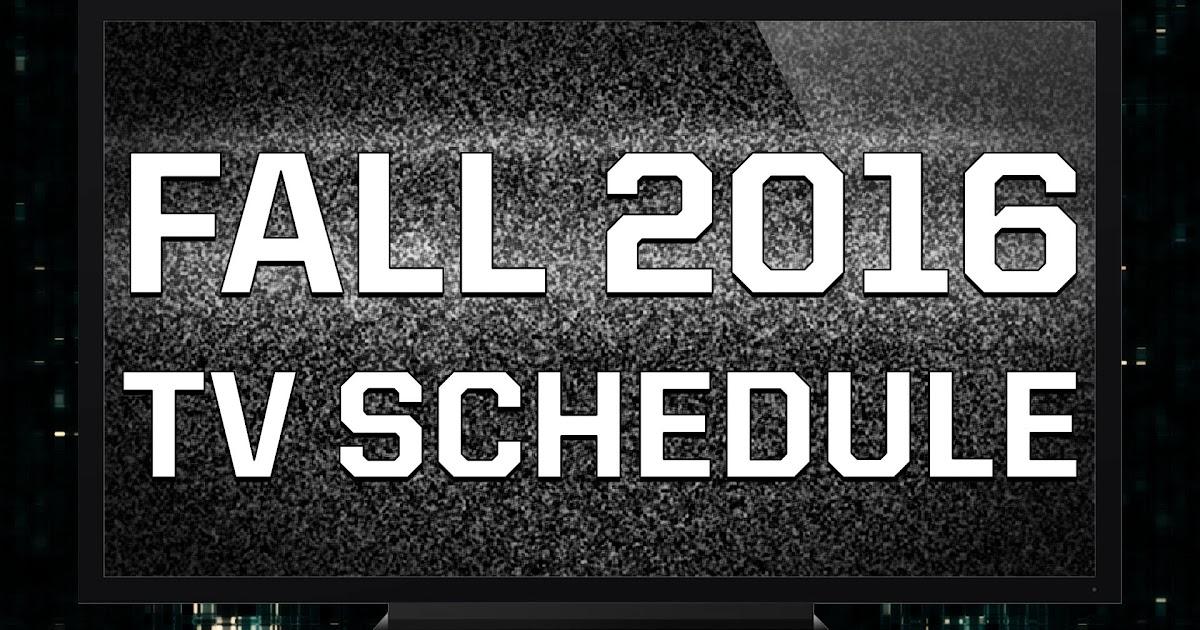 tv guide fall schedule calendar