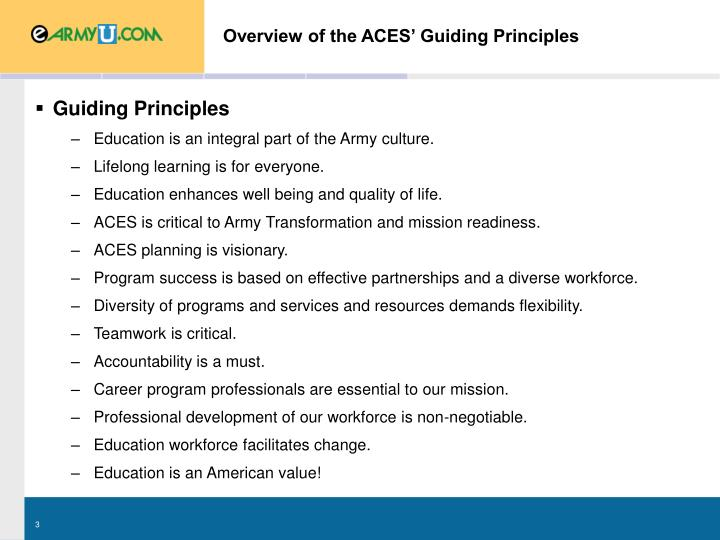 what are guiding principles in education